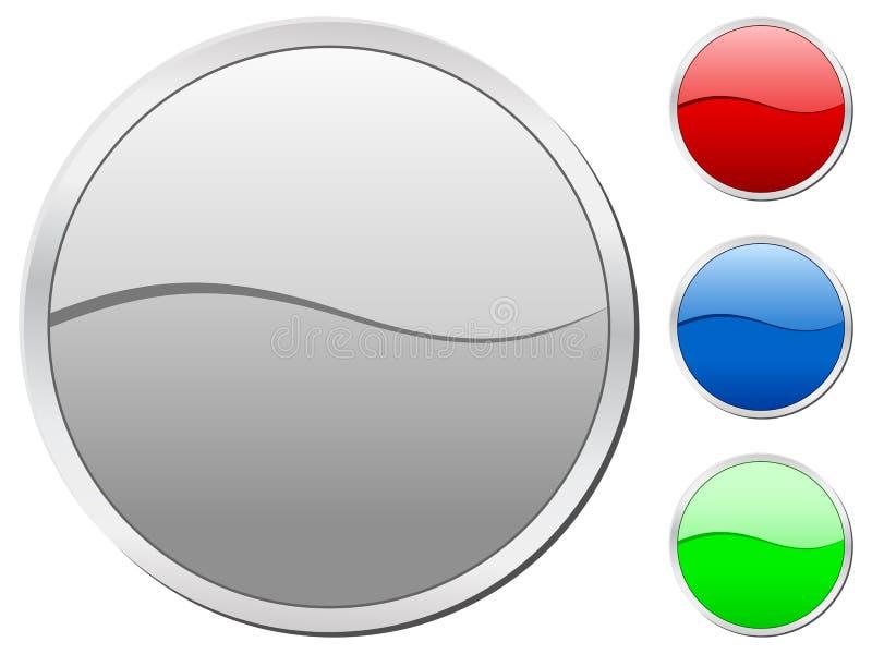 Ícones do círculo ilustração stock