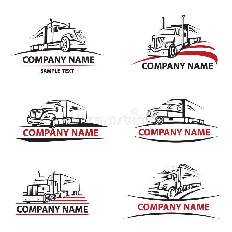 Ícones do caminhão ajustados ilustração stock