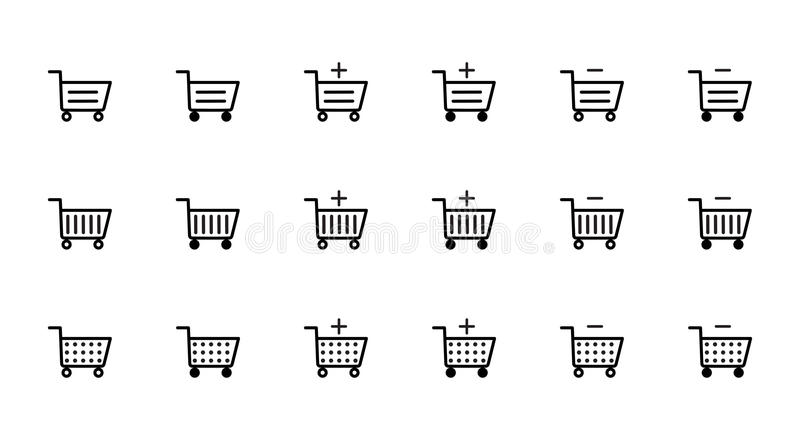 Download Ícones Do Carrinho De Compras Ilustração Stock - Ilustração de isolado, ícones: 65575956