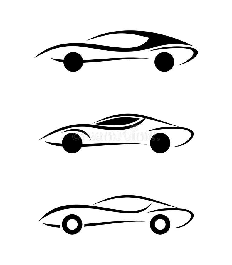 Ícones do carro fotos de stock