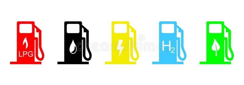 Ícones do combustível ilustração stock