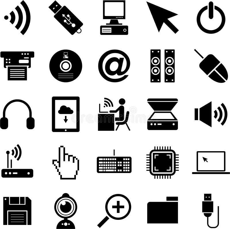 Ícones do computador ilustração do vetor