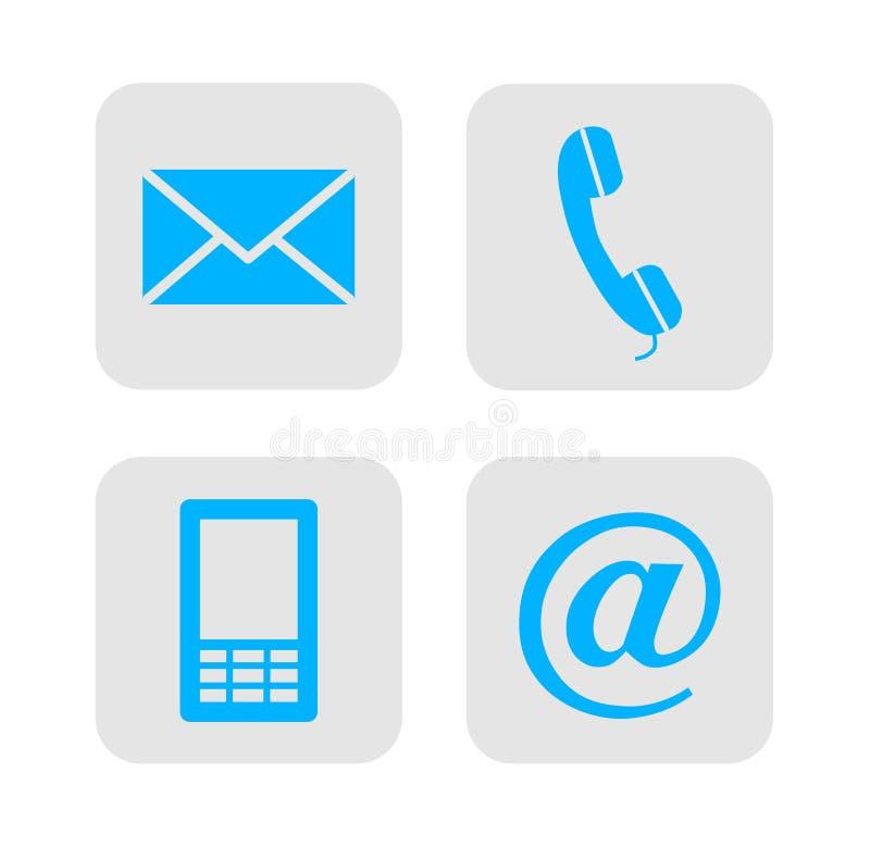 Ícones do contato da Web.