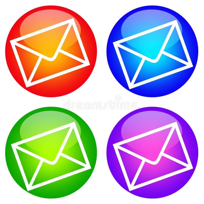 Ícones do correio ilustração royalty free