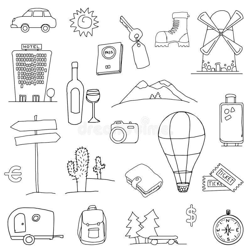 Ícones do curso ilustração royalty free