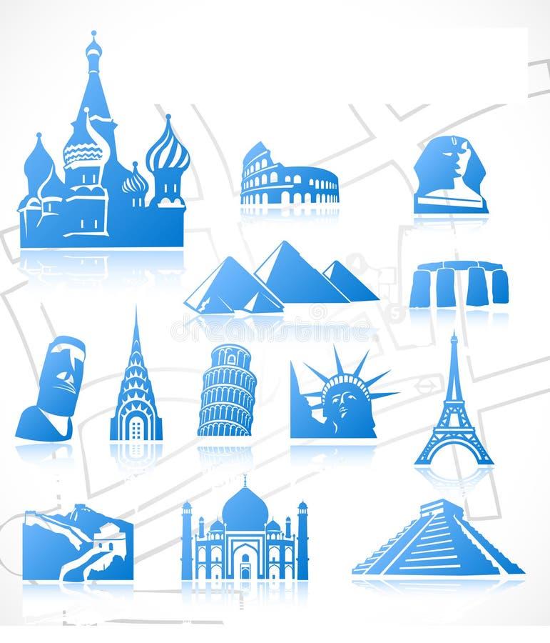 Ícones do curso. Jogo 3 ilustração stock