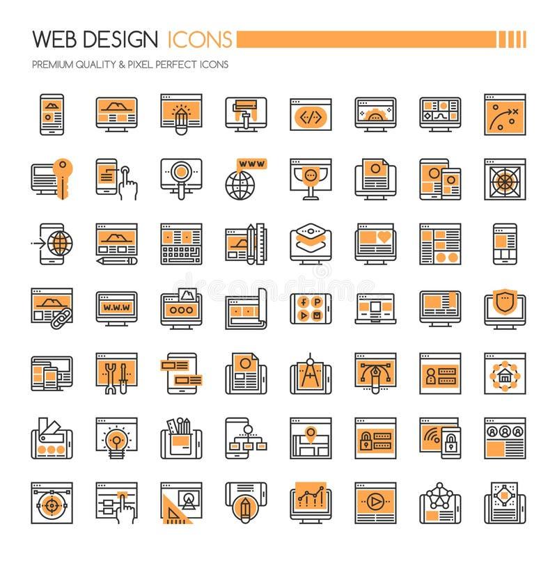 Ícones do design web ilustração royalty free