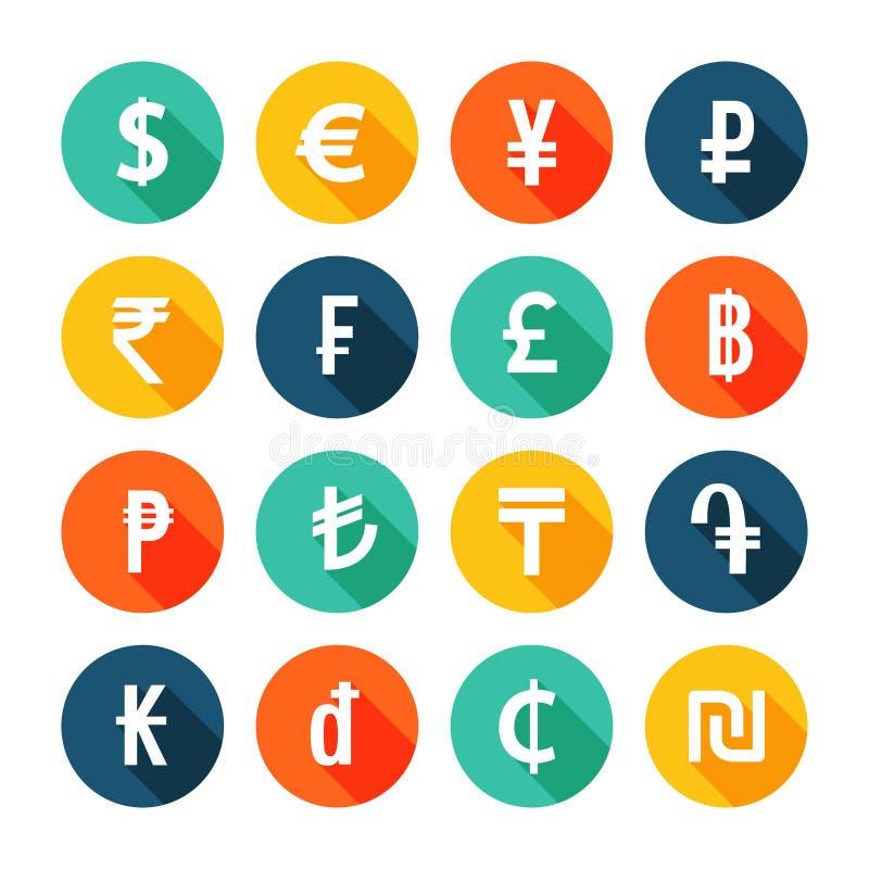 Ícones do dinheiro ajustados ilustração royalty free