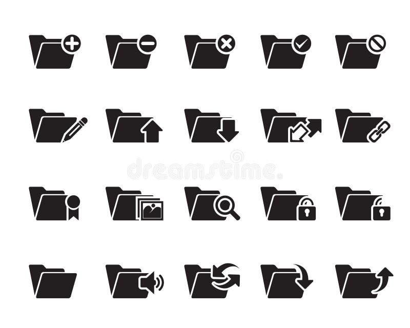 Ícones do dobrador do arquivo n ilustração do vetor