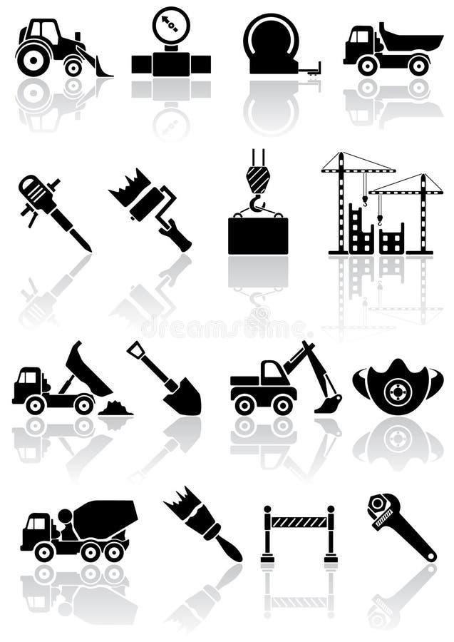 Ícones do edifício ilustração stock