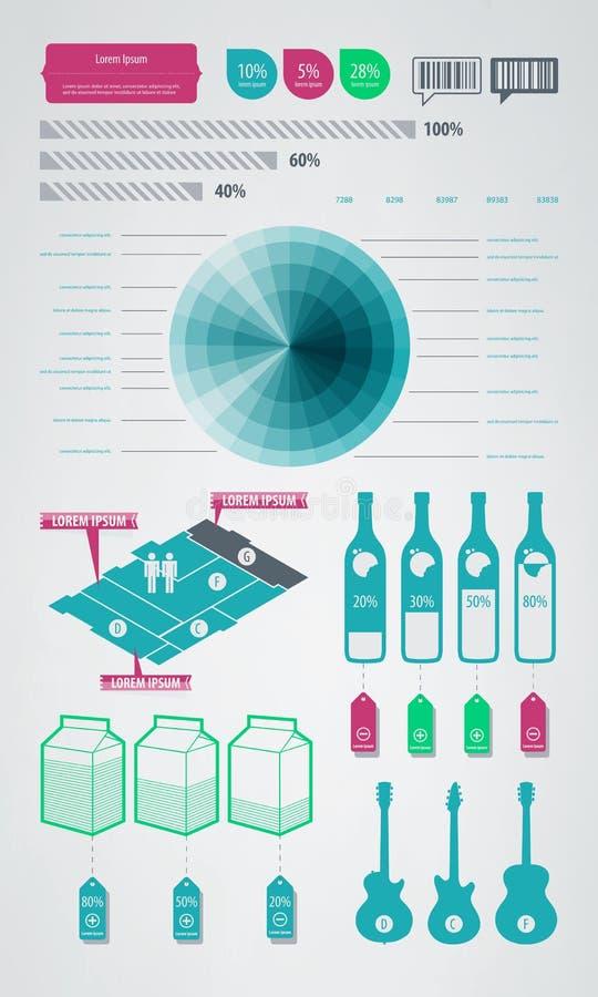 Ícones do elemento de Infographics ilustração do vetor