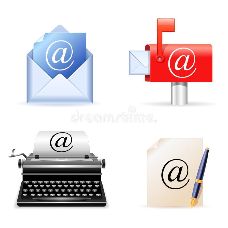 Ícones do email. ilustração royalty free