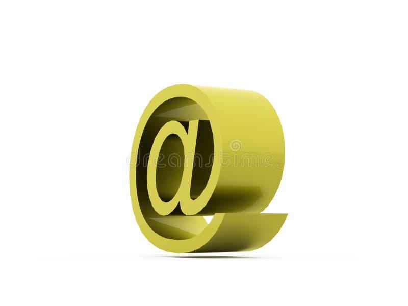Ícones do email no fundo branco ilustração royalty free