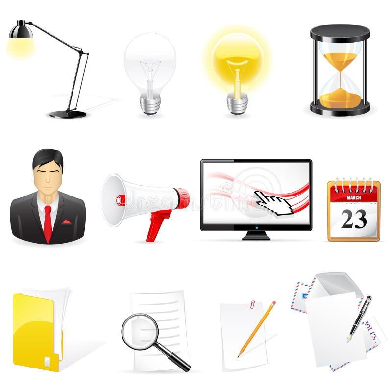 Ícones do escritório ilustração do vetor