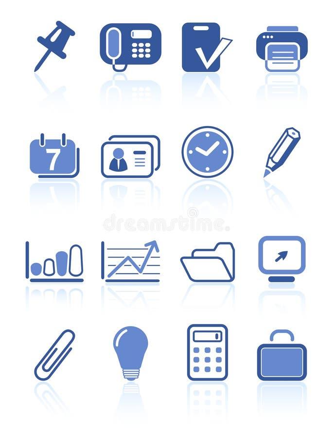 Ícones do escritório ilustração stock