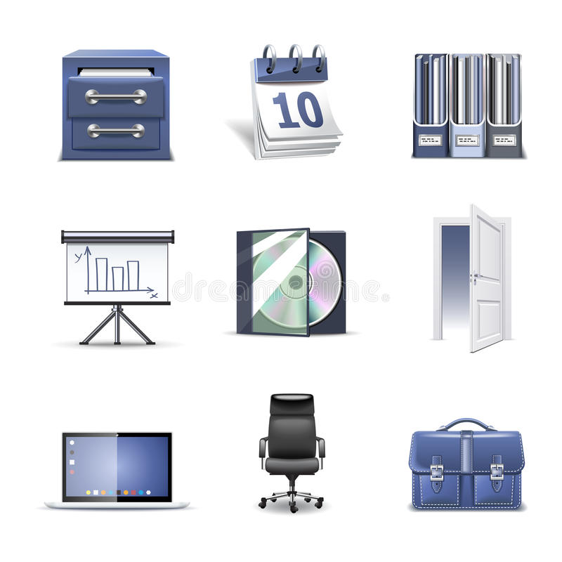 Ícones do escritório | Parte 2 da série de Bella ilustração stock