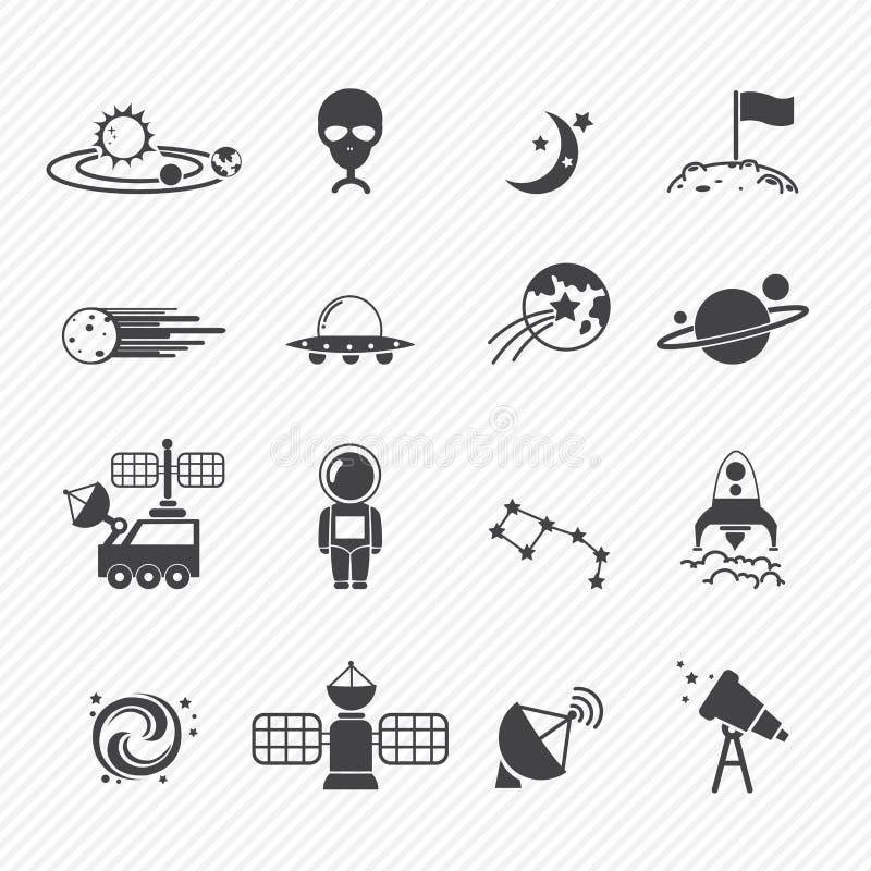 Ícones do espaço ilustração do vetor