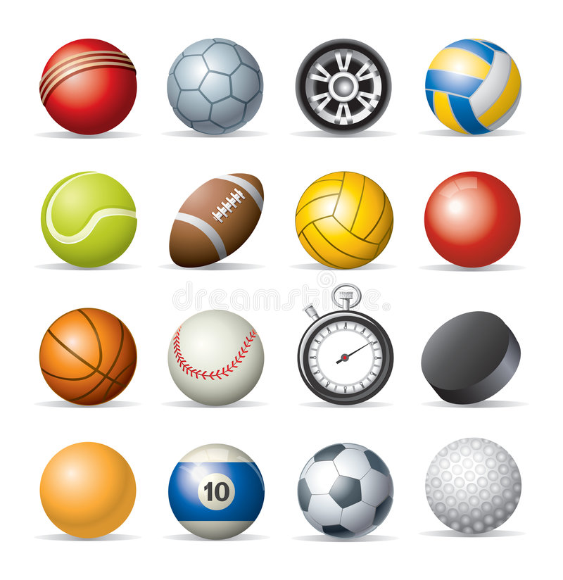 Ícones do esporte ilustração royalty free