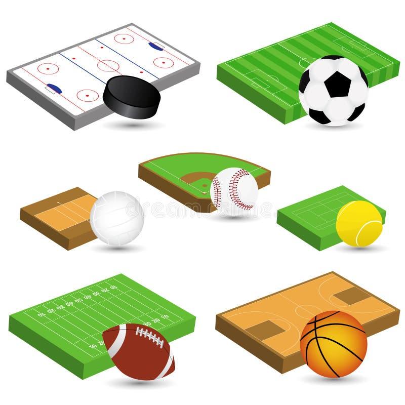 Ícones do esporte ilustração do vetor