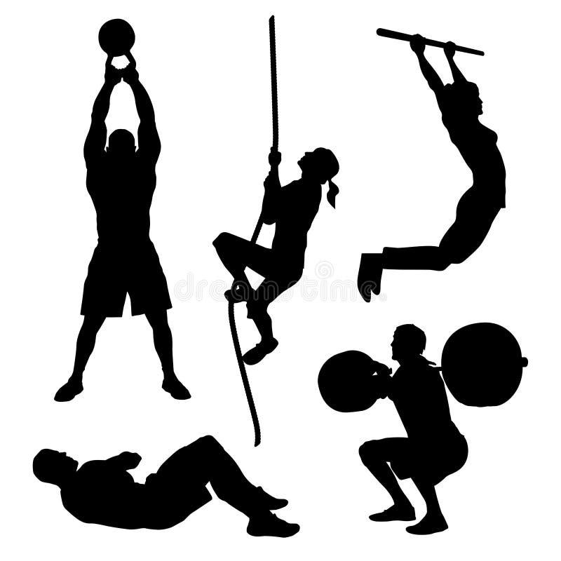 Ícones do exercício ilustração do vetor