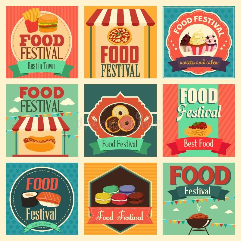 Ícones do festival do alimento