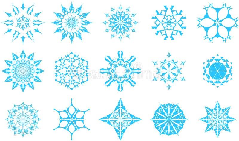 Ícones do floco de neve foto de stock royalty free