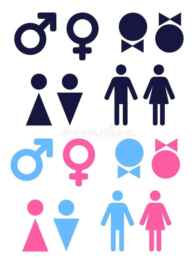 Ícones do gênero ilustração stock