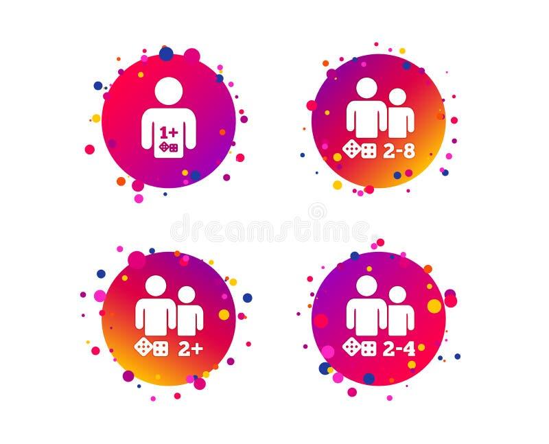 Ícones do Gamer Jogadores dos jogos de mesa Vetor ilustração do vetor