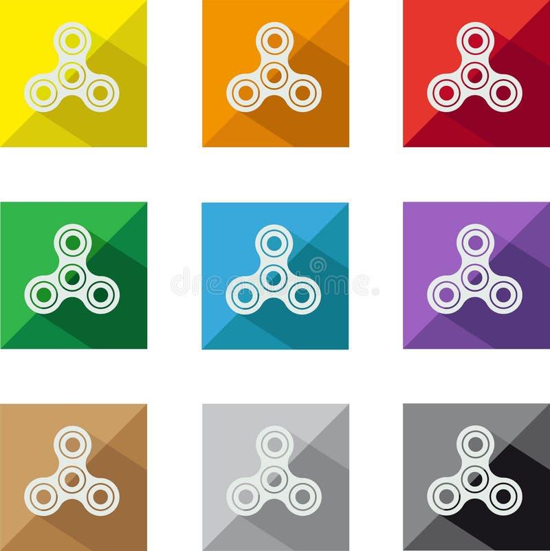 Ícones do girador da inquietação imagens de stock