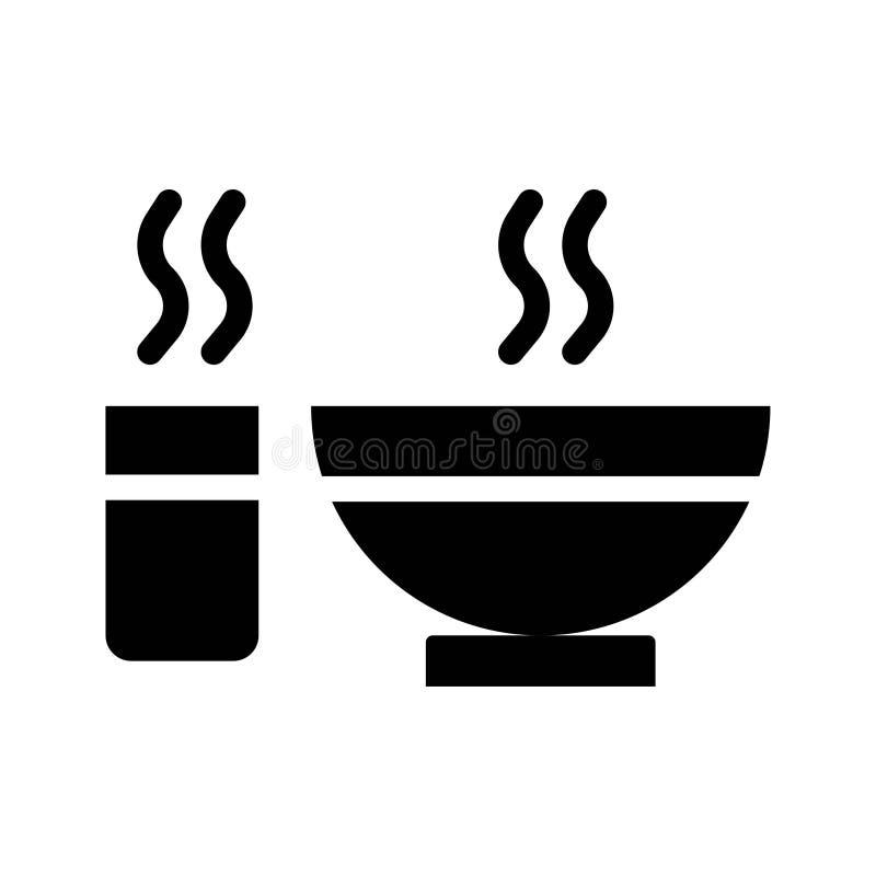 Ícones do Glyph do vetor da cultura da religião do alimento da refeição de Ramadan Islam Curso edit?vel e cor ilustração do vetor