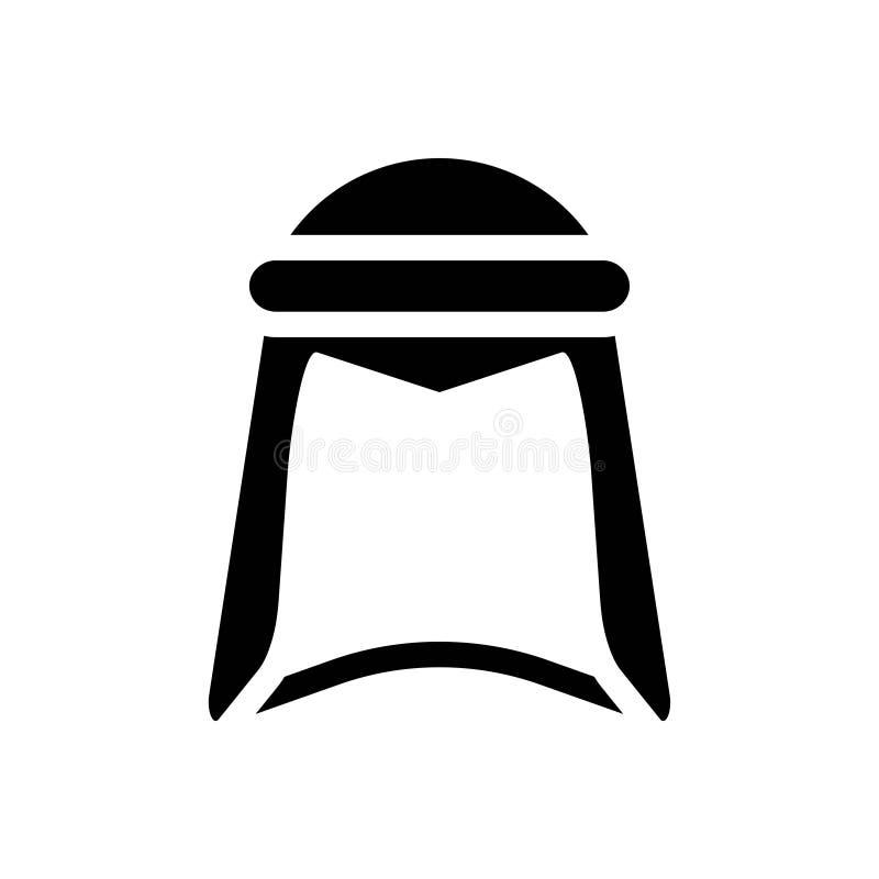 Ícones do Glyph do vetor da cultura da religião de Ramadan Fashion Clothing Clothes Islam Curso edit?vel e cor ilustração royalty free