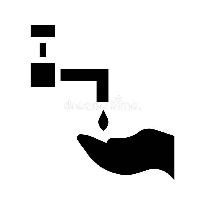 Ícones do Glyph do vetor da cultura da religião de Ramadan Water Wash Hand Islam Curso edit?vel e cor ilustração do vetor