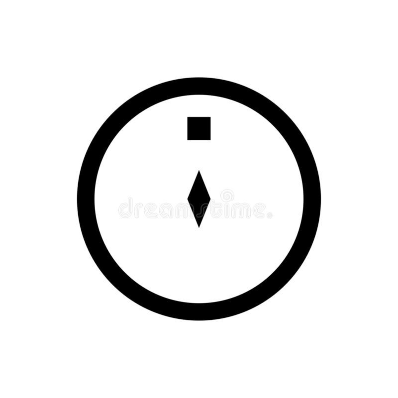 Ícones do Glyph do vetor da cultura da religião do Islã do lugar do sentido do compasso da ramadã Curso edit?vel e cor ilustração do vetor
