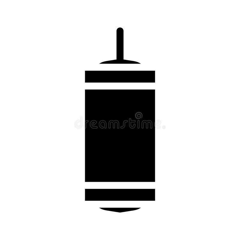 Ícones do Glyph do vetor da cultura da religião do Islã da luz da lanterna da lâmpada da ramadã Curso edit?vel e cor ilustração royalty free
