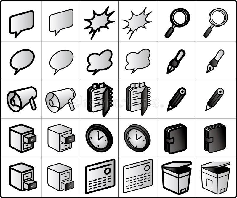ícones do group-ware ilustração royalty free