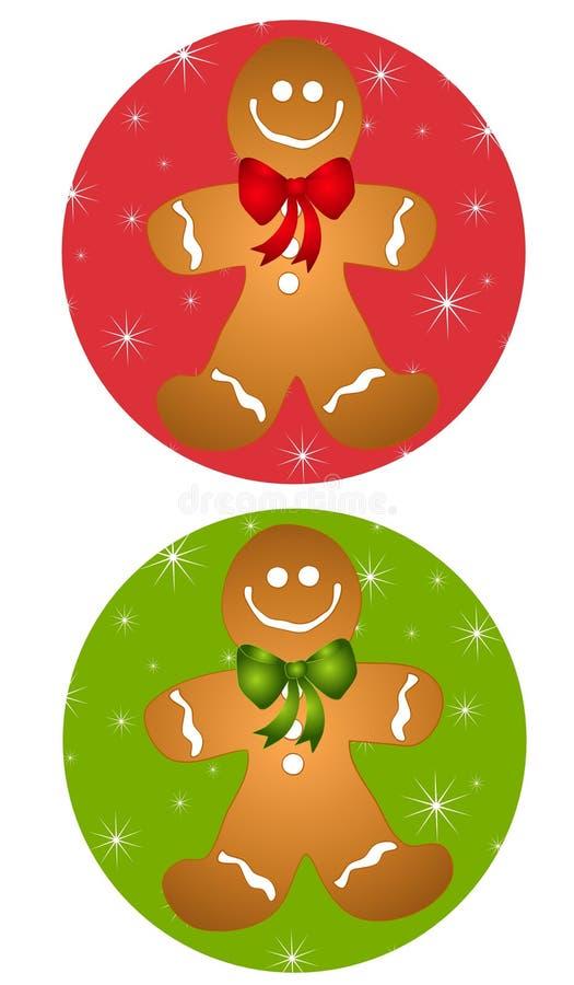 Ícones do homem de pão-de-espécie ilustração stock