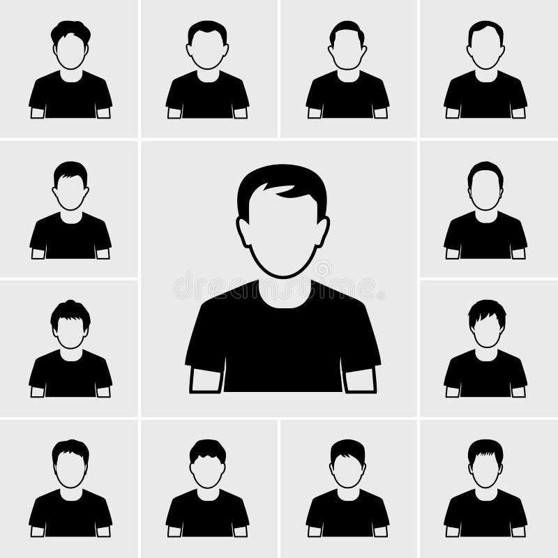 Ícones do homem dos povos ajustados ilustração royalty free