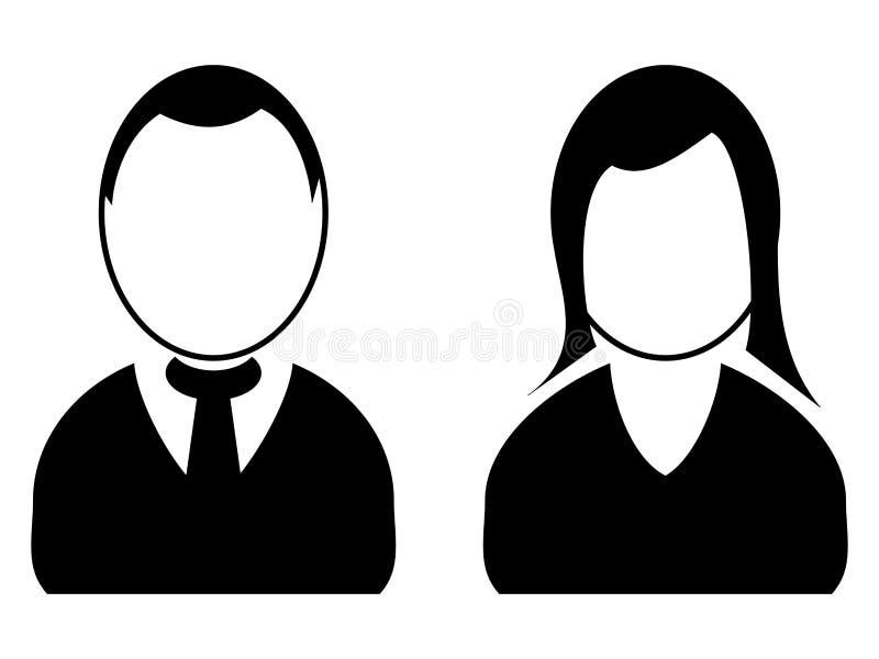 Ícones do homem e da mulher fotografia de stock