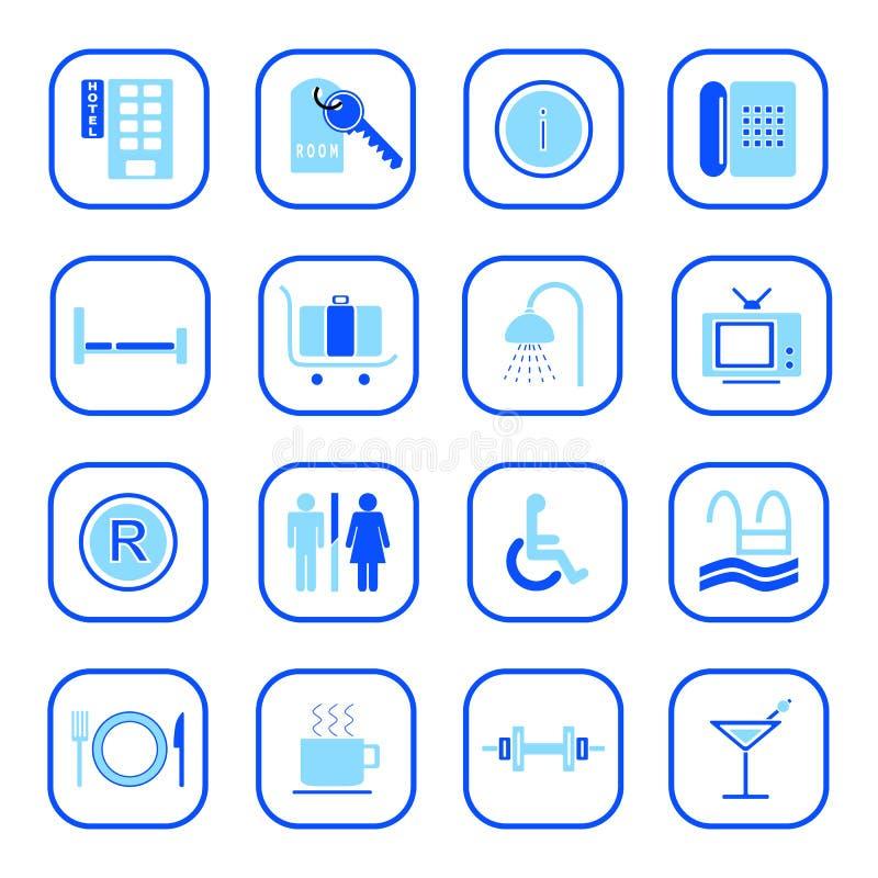 Ícones do hotel - série azul