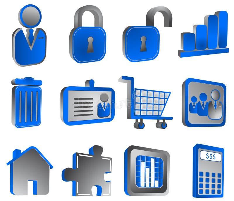 Ícones do Internet ilustração stock