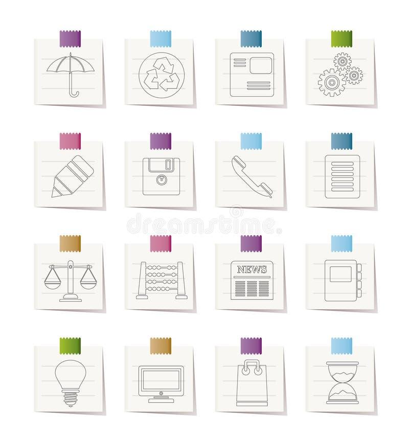 Ícones do Internet do negócio e do escritório ilustração stock