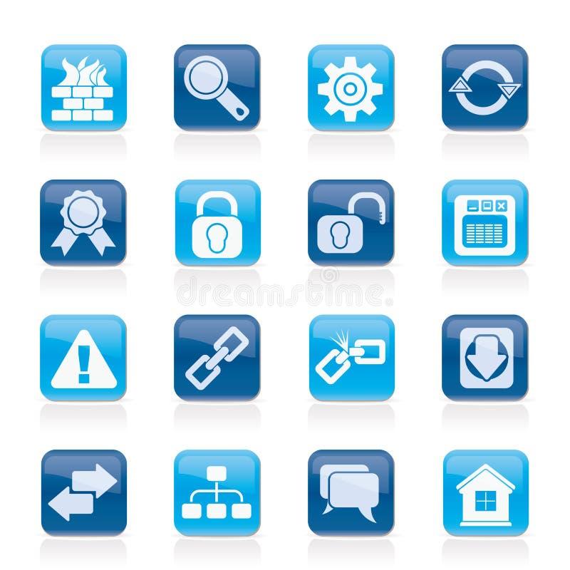 Ícones do Internet e do Web site
