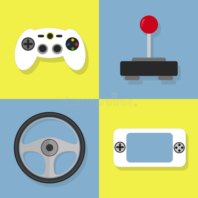 Ícones do jogo de vídeo ilustração royalty free