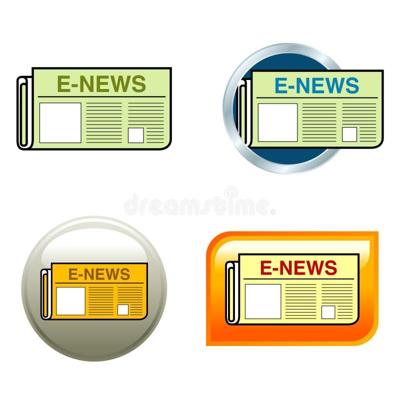 Ícones do jornal ilustração stock