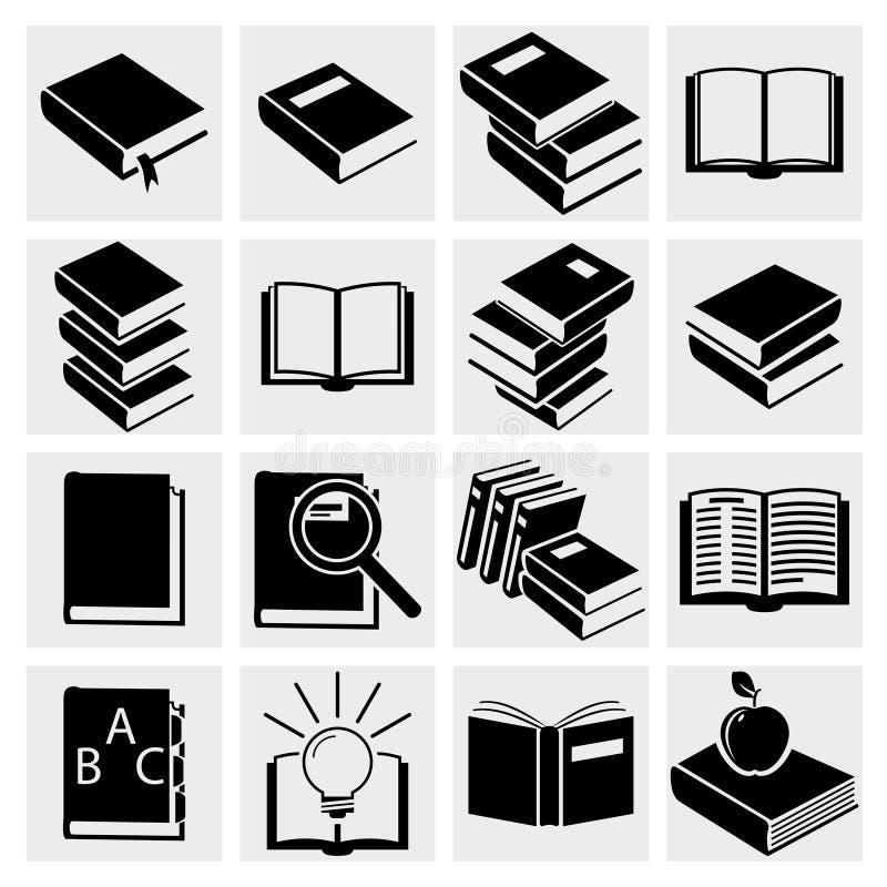 Ícones do livro ajustados. ilustração do vetor