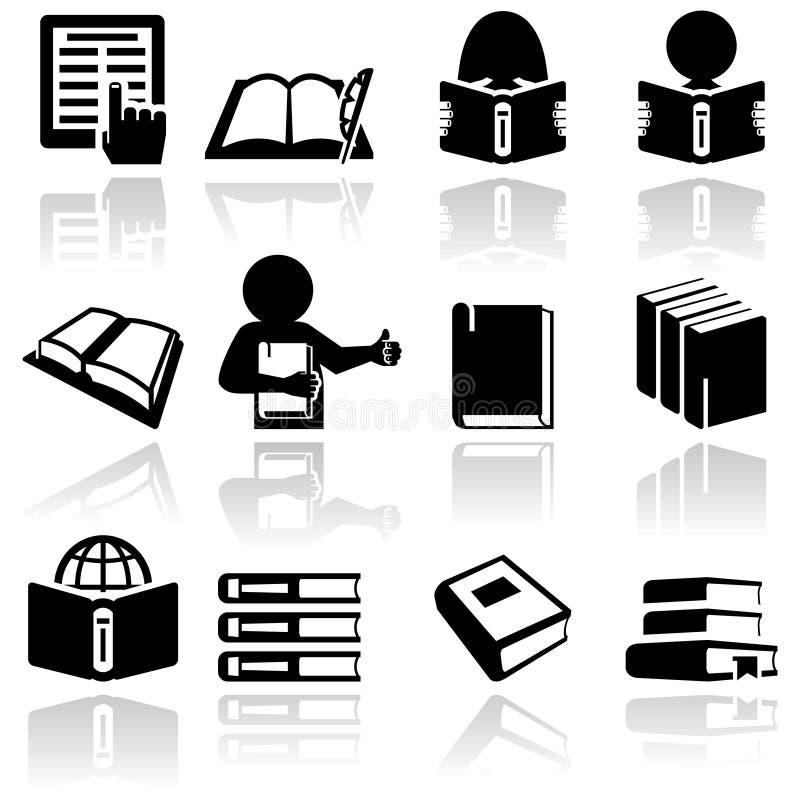 Ícones do livro ajustados. EPS 10 ilustração do vetor