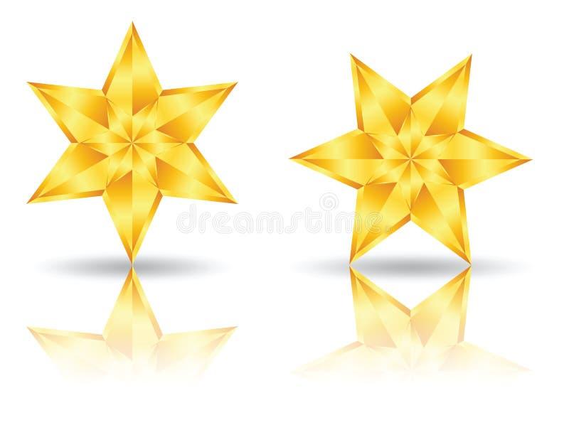 Ícones do logotipo da estrela ilustração royalty free
