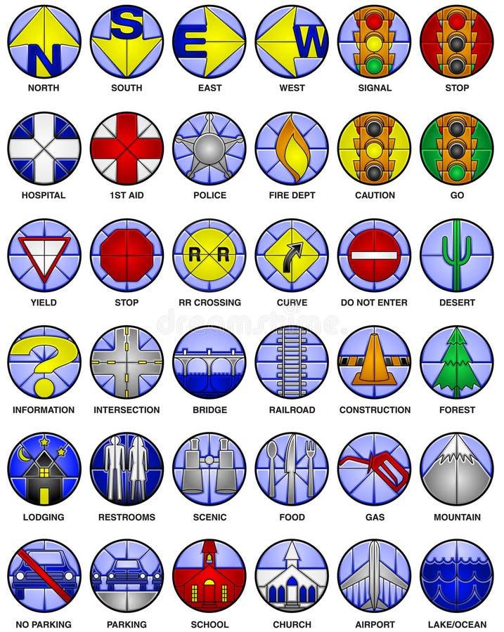 Ícones do mapa do vetor ilustração royalty free