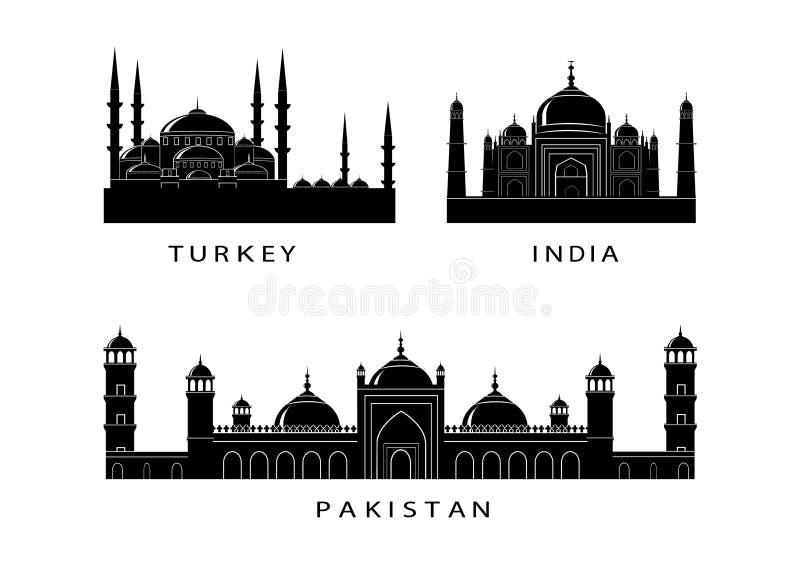 Ícones do marco ilustração stock
