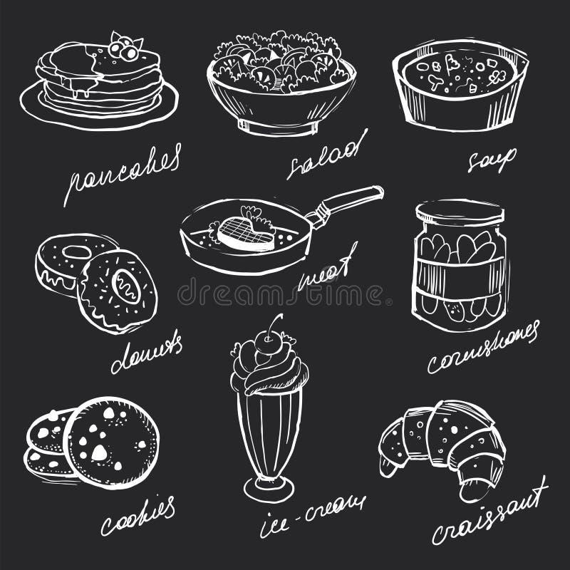 Ícones do menu ilustração royalty free